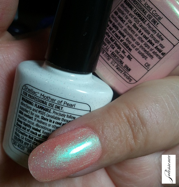 Cnd Layeringshellac Motherofpearlicedcoral Solessence
